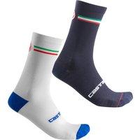 Castelli Italia 15 Socks - L/XL - White