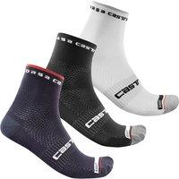 Castelli Rosso Corsa Pro 9 Socks - L/XL - White