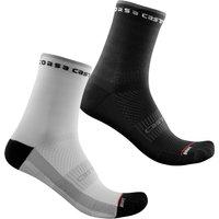 Castelli Women's Rosso Corsa 11 Socks - S/M - White