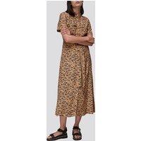 Whistles Womens Bark Print Tie Front Shirt Dress - Multi - UK 10