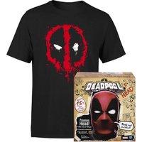 Hasbro Deadpool's Head & T-Shirt Bundle - Black - Womens - XS - Schwarz