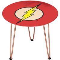 Decorsome DC The Flash Logo Wooden Side Table - Gold