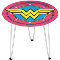 Decorsome DC Wonder Woman Wooden Side Table - White