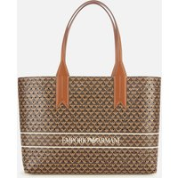 Emporio Armani Women's Frida Printed Shopping Bag - Brown