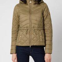 Barbour International Womens Drifting Quilt Jacket - Lt Army
