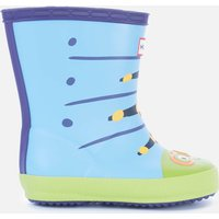 Hunter Kids' First Classic Caterpillar Wellington Boots - Blue Thistle - UK 4 Baby