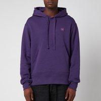 Acne Studios Men's Face Logo Melange Hooded Sweatshirt - Electric Purple - L