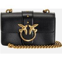 Pinko Womens Love Mini Icon Jewel Shoulder Bag - Black