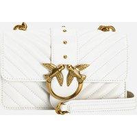 Pinko Womens Love Mini Icon Quilt Shoulder Bag - White