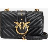 Pinko Womens Love Mini Icon Quilt Shoulder Bag - Black