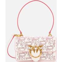 Pinko Womens Love Mini Icon Pinpoint Shoulder Bag - White