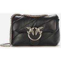 Pinko Womens Love Mini Puff Maxi Quilt Shoulder Bag - Black