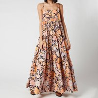 Free People Womens Park Slope Maxi Dress - Dark Combo - L