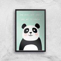 Panda Meme Giclee Art Print - A2 - Black Frame