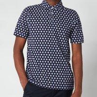 Ted Baker Men's Edaname Floral Printed Short Sleeve Shirt - Navy - 2/S