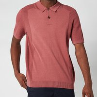 Ted Baker Men's Bump Knitted Polo Shirt - Pink - 2/S