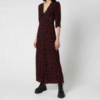RIXO Women's Gemma Lace Insert Midi Dress - Vintage Rose/Black - XS