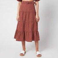 Faithfull the Brand Women's Farida Midi Skirt - Bonnie Dot Print - M