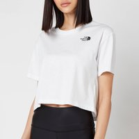 The North Face Women's Cropped Simple Dome Short Sleeve T-Shirt - TNF White - S
