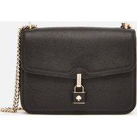 Kate Spade New York Womens Locket Large Flap Shoulder Bag - Black