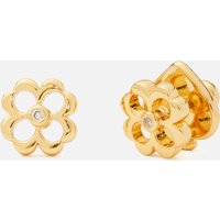 Kate Spade New York Women's Spade Floral Studs - Clear/Gold