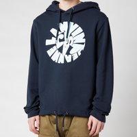 Lanvin Men's Printed Hooded Sweatshirt - Midnight Blue - L
