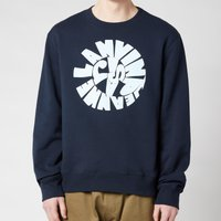 Lanvin Men's Printed Sweatshirt - Midnight Blue - S