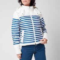 Polo Ralph Lauren Women's Down Fill Jacket - White/Blue Stripe - S
