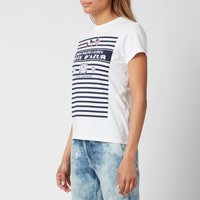 Polo Ralph Lauren Women's Stripe Graph T-Shirt - White - L