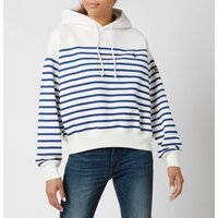 Polo Ralph Lauren Womens Stripe Hooded Top - Deckwash White - XS