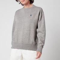 Polo Ralph Lauren Womens Logo Fleece Sweatshirt - Dark Vintage Heather - XS