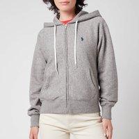 Polo Ralph Lauren Womens Zip Up Hooded Top - Dark Vintage Heather - L