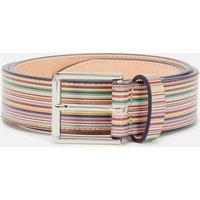 PS Paul Smith Men's Signature Stripe Belt - Multi - W30