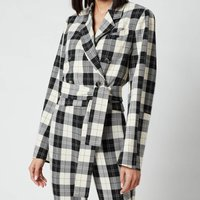 Baum Und Pferdgarten Women's Blayn Jacket - Cream Black Check - EU 38/UK 10