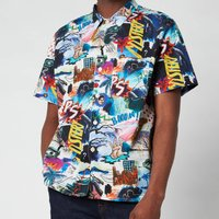 PS Paul Smith Men's Casual Fit Patterned Short Sleeve Shirt - Multi - XL