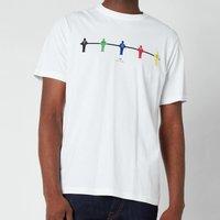 PS Paul Smith Men's Regular Fit Table Football T-Shirt - White - S
