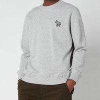 PS Paul Smith Men's Embroidered Zebra Logo Sweatshirt - Melange - XL