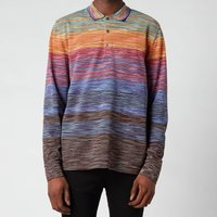 Missoni Men's Stripe Jersey Long Sleeve Polo Shirt - Multi - M