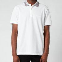 Missoni Men's Contrast Collar Pique Polo Shirt - White - S