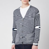 Missoni Men's Multicolour Pattern V-Neck Cardigan - Multi - 48/M