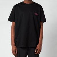 Wooyoungmi Men's Basic Back Logo T-Shirt - Black/Pink - 50/L