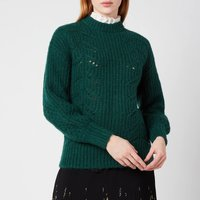 Ted Baker Womens Molliey Chunky Lace Detail Mockable - Dark Green - UK 6