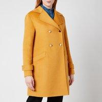 Ted Baker Womens Blankaa Collared Long Pea Coat - Yellow - UK 8
