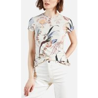 Ted Baker Womens Jerikko Decadence Print Fitted T-Shirt - White - UK 6