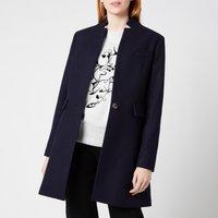 Ted Baker Womens Bianza Straight Tailored Coat - Navy - UK 14