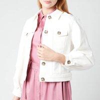 Ted Baker Womens Consse Boxy Denim Jacket - Cream - UK 14