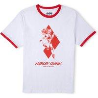 Batman Villains Harley Quinn Unisex Ringer T-Shirt - Weiß / Rot - XS - Weiß