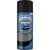 Hammerite Matt Finish BBQ Paint - Black - 400ml
