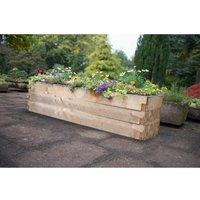 Forest Garden Wooden Caledonian Garden Trough Planter
