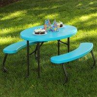 Lifetime Children's Oval Picnic Table - Glacier Blue